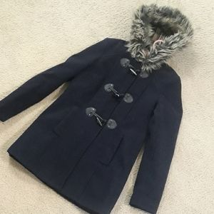 Forever 21 Wool Blend Toggle Coat